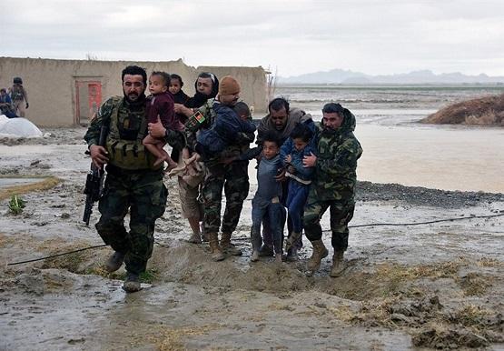 سیلاب، برف و باران جان دستکم ۵۹ نفر را در افغانستان گرفت