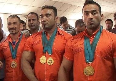 قهرمانی تیم ملی پرورش اندام افغانستان در رقابتهای جنوب آسیا