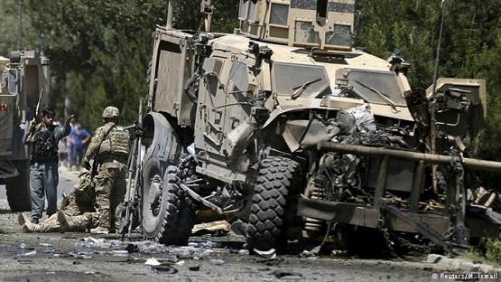 حملۀ انتحاری به کاروان نیروهای ائتلاف در بگرام