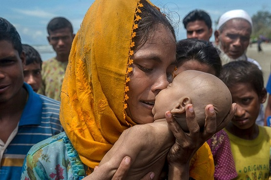 Tragic Story of Infant Drowned as His Family Fleeing Myanmar Regime's Genocide