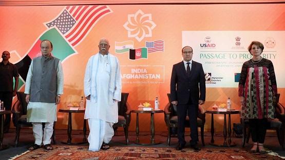 افتتاح نمایشگاه تجارتی و سرمایهگذاری افغانستان و هند در دهلینو