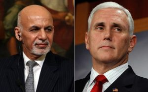 Ghani and pence discuss US strategy impact on Afghanistanian forces and Taliban