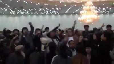 فیلم/ درگیری در گردهمای شورای انسجام حزب جمعیت (شاخه جدا شده)